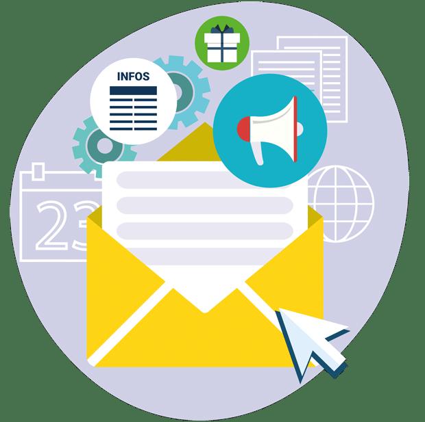 Création emailing newsletters pour fidélisation clients